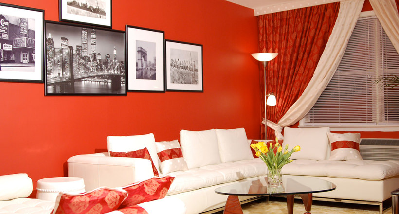 25+ Red Living Room Designs, Decorating Ideas | Design Trends ...