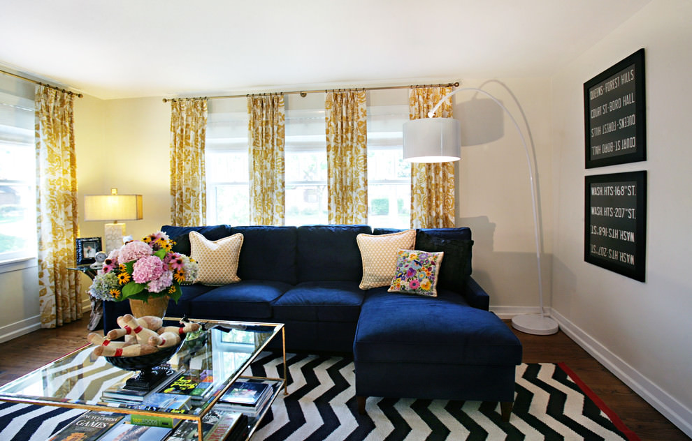 Eclectic living room Flora Designed Curtains
