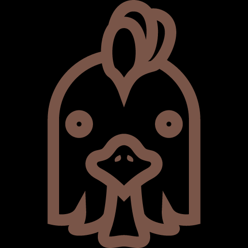 Funny Cock Head Icon