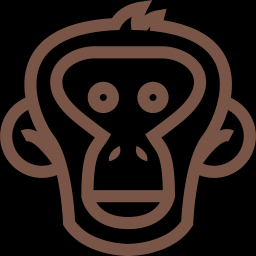 Monkey Face Outline Icon