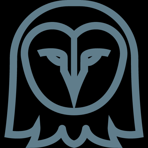 Funny Outline Owl Icon