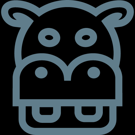 Funny Hippo Head Icon