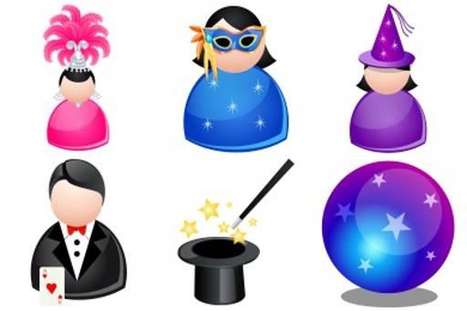 magic people icon set