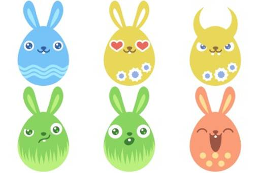 funny easter bunny icon