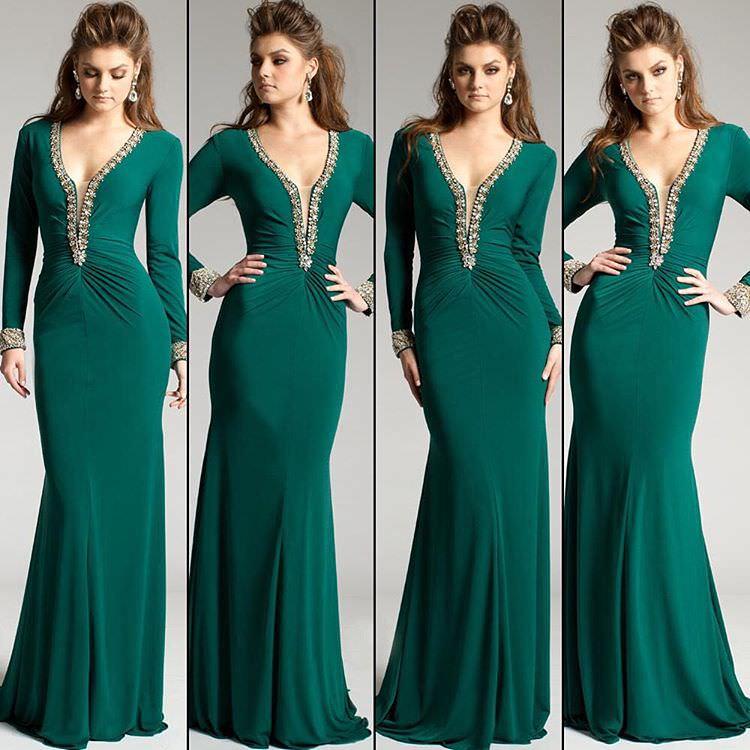 green colored velvet dress