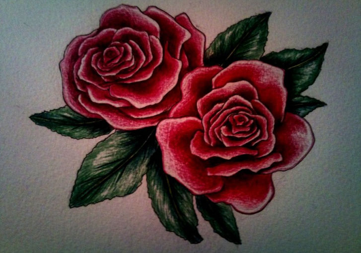 25+ Rose Drawings , Art Ideas | Design Trends - Premium ...
