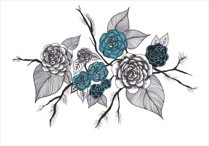 Different Art Designs : Rose drawings art ideas design trends premium
