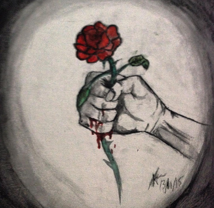 simple rose art for beginners