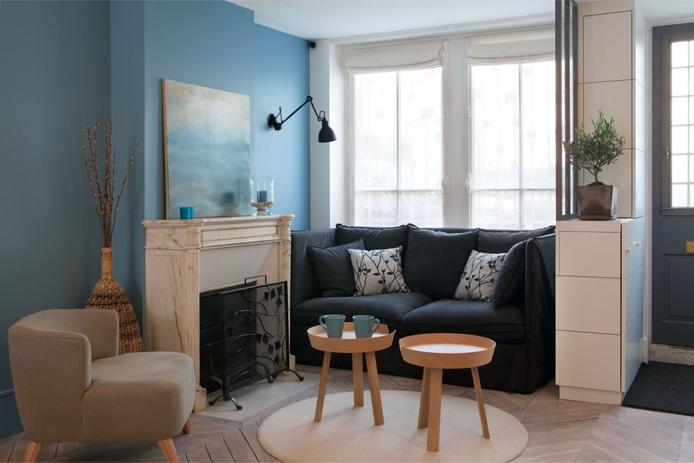 Elegant Blue tiny living room