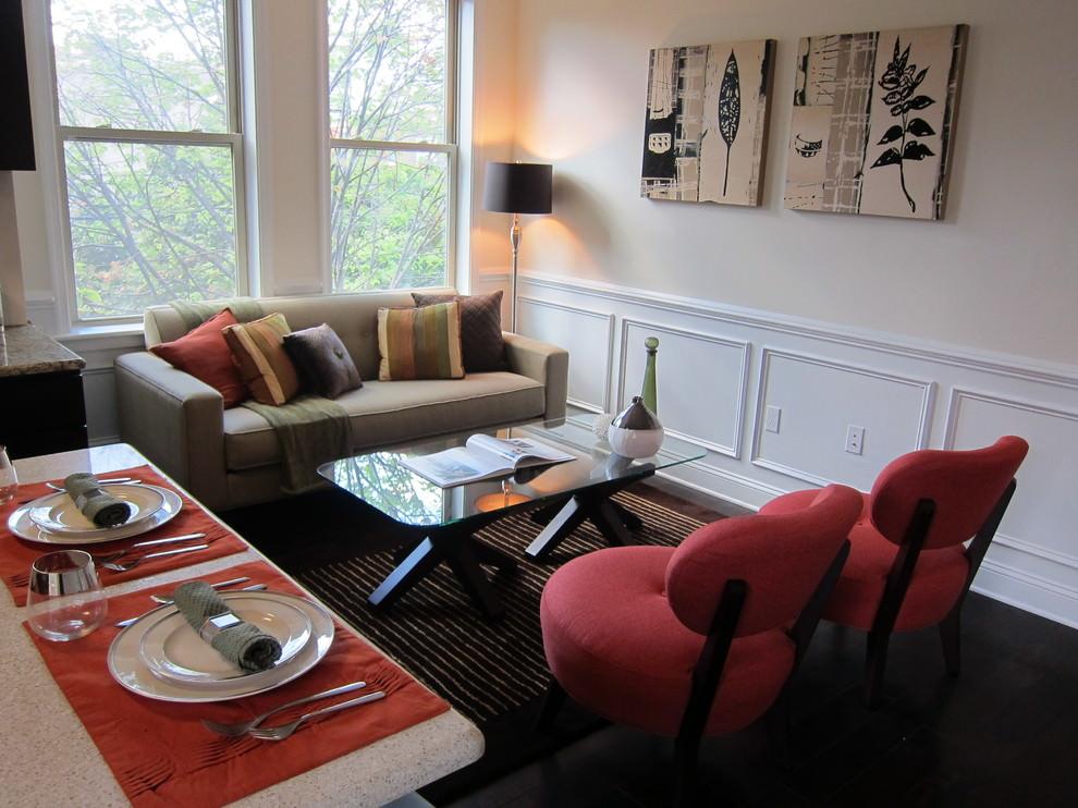 tiny contemporary living room