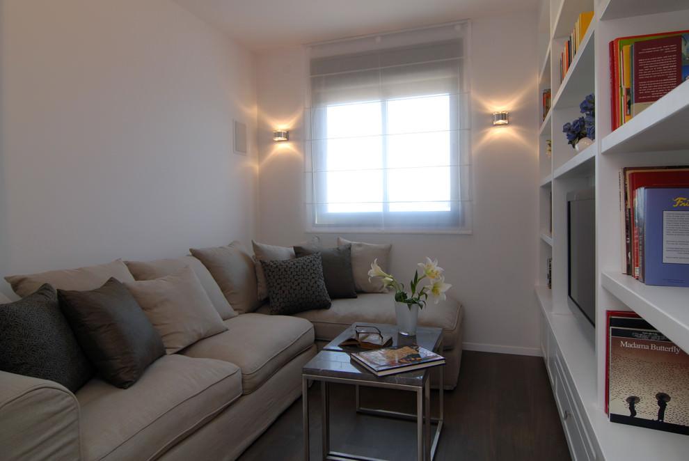 Tiny Contemporary Family Room