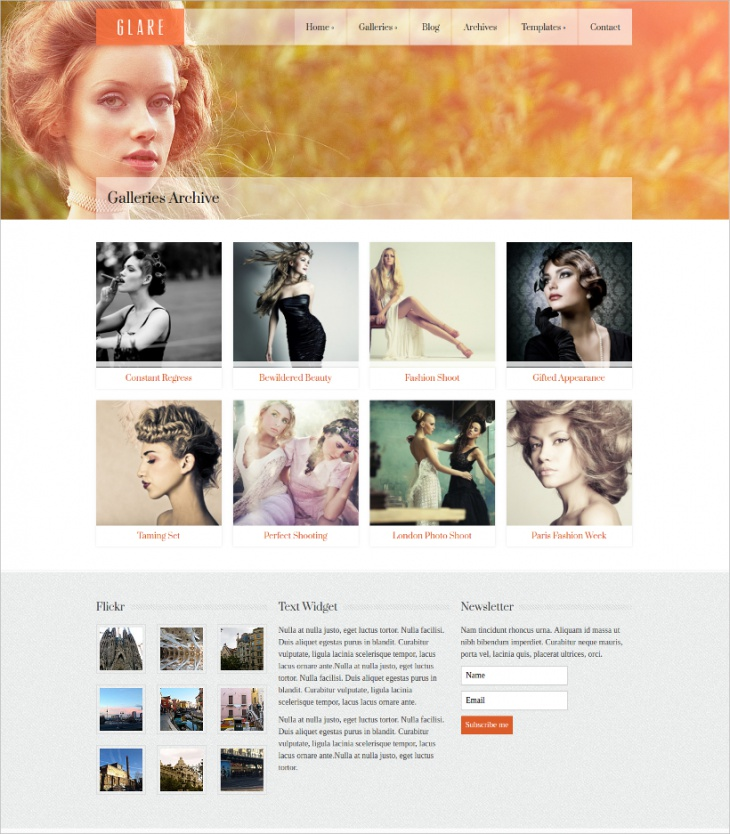 Glare Photography WordPress Theme