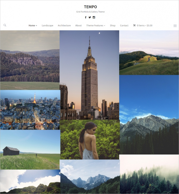 Grid Portfolio & Gallery Theme