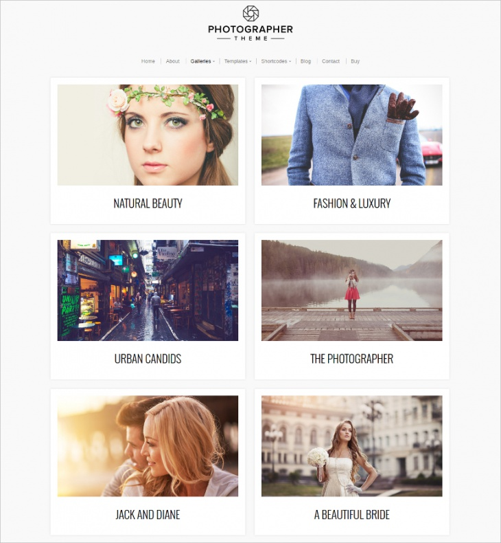Commercial Photographers Theme