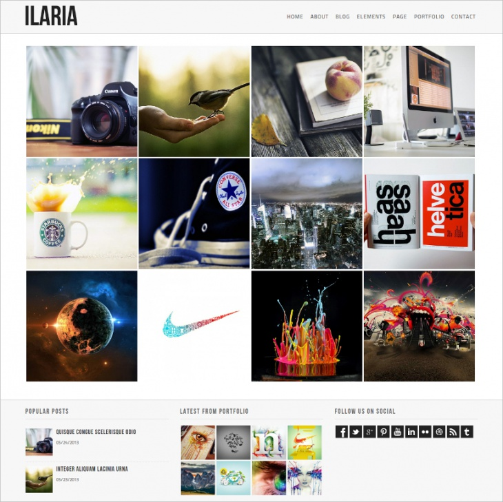 Ilaria WordPress Theme