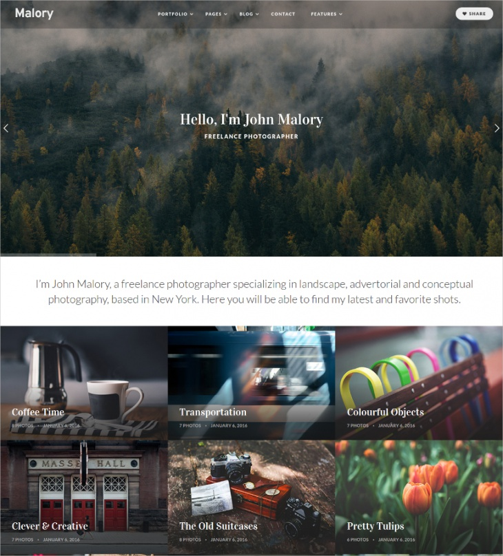 Photography & Magazine WordPress Theme
