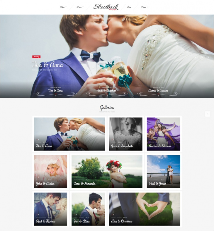 Retina Photography WordPress Theme