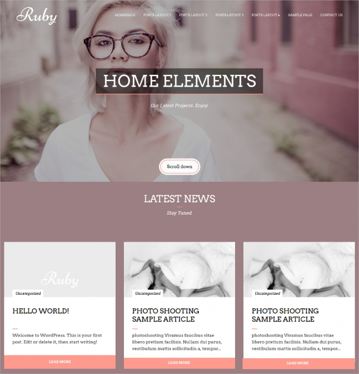 Ruby Creative Photography Theme