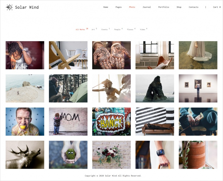 SolarWind Photography Theme
