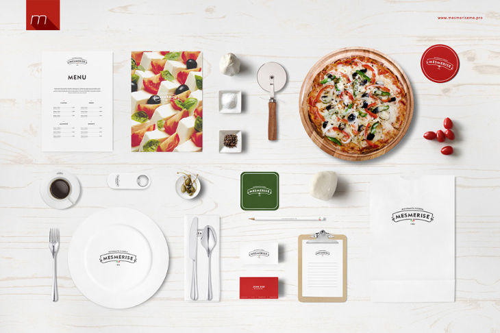 italian restaurant identity mockup