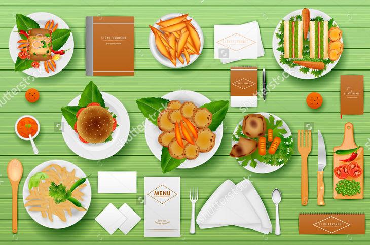 Identity Branding Mockup for Restaurant