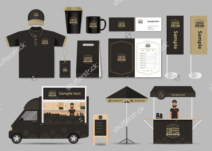 Coffee Shop and Restaurant Identity Mockup