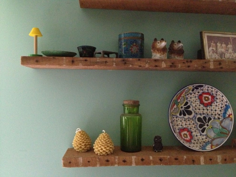 Rustic display and wall shelve