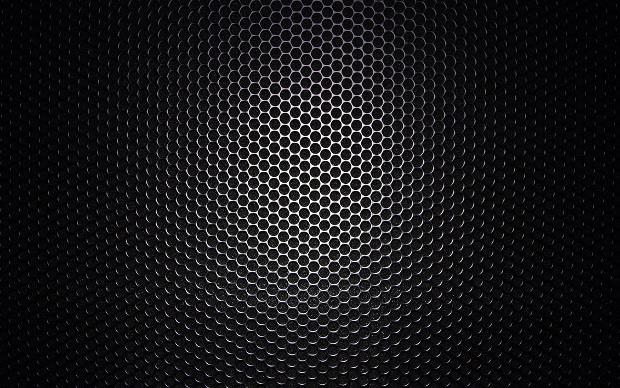 Black Classy Honeycomb Pattern