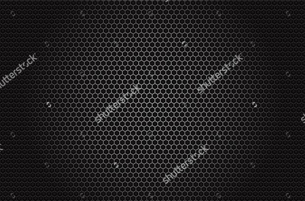 Black Honeycomb Design Pattern