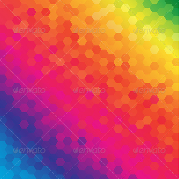 Colorful Honeycomb Pattern
