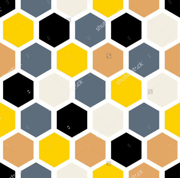 Colorful Seamless Honeycomb Pattern