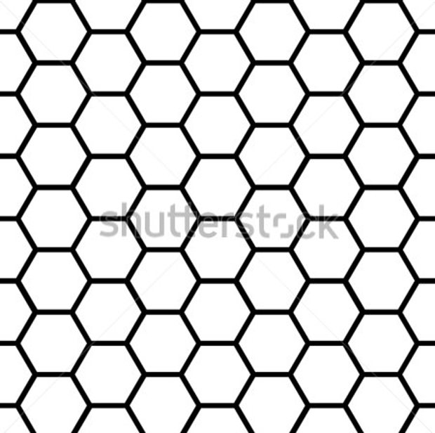 simple pattern of honeycomb