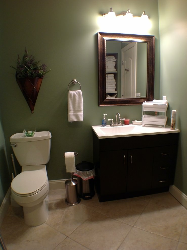 24 basement bathroom designs decorating ideas design for Bathroom decor green and brown