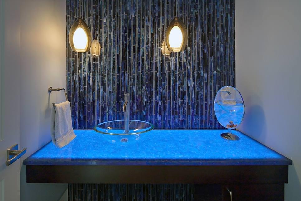 Awesome bathroom back splash design