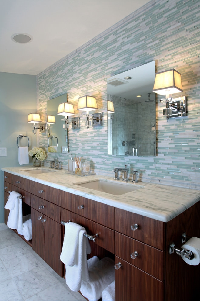 25 Bathroom Backsplash Designs Decorating Ideas Design