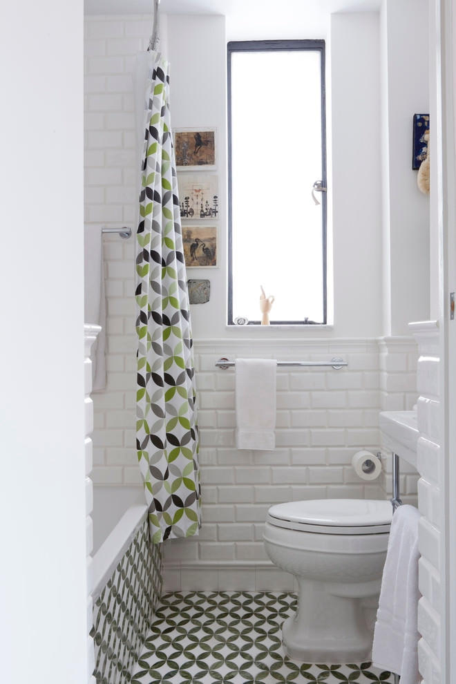 18 bathroom curtain designs decorating ideas design for Petite salle de bain avec toilette