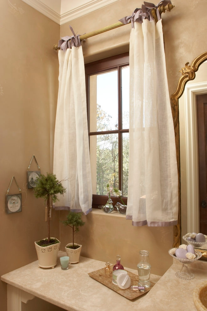 Traditional bathroom beautiful curtain design