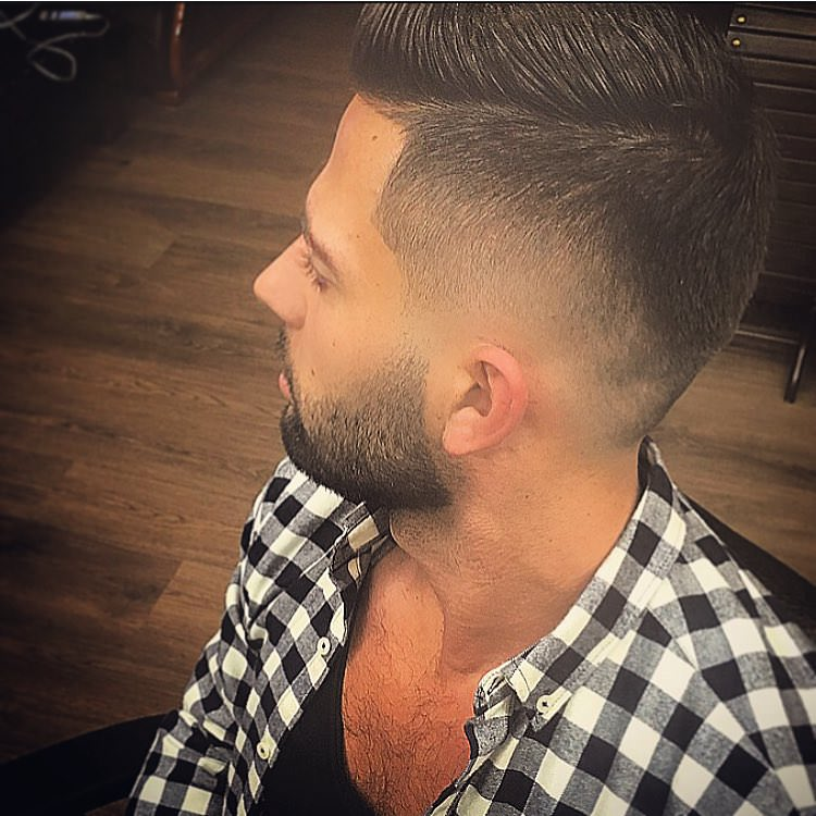 Side Medium Fade Haircut Design