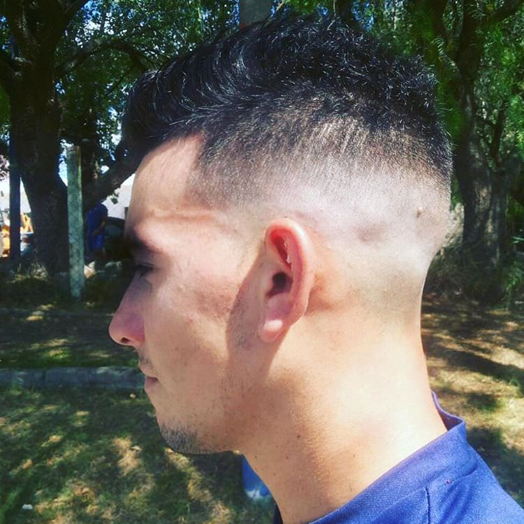 Full Medium Fade Haircut Design