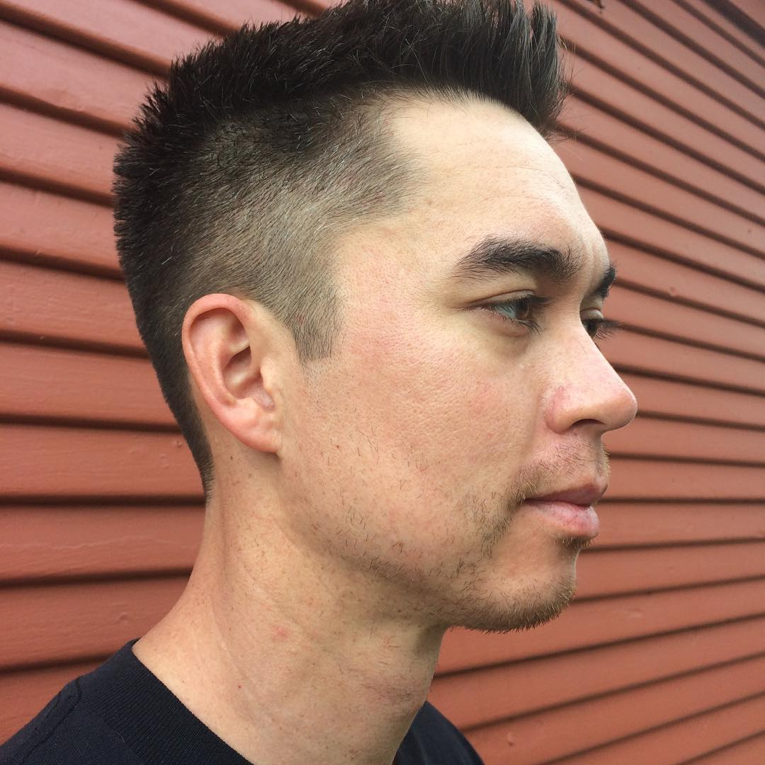 Angle Medium Fade Haircut Design