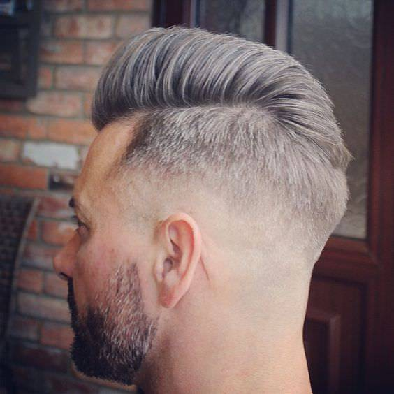 Pompadour Medium Fade Haircut Design
