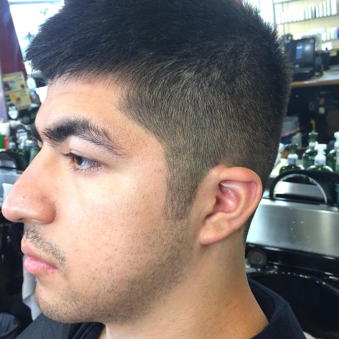 Medium Fade On Dense Haircut Design