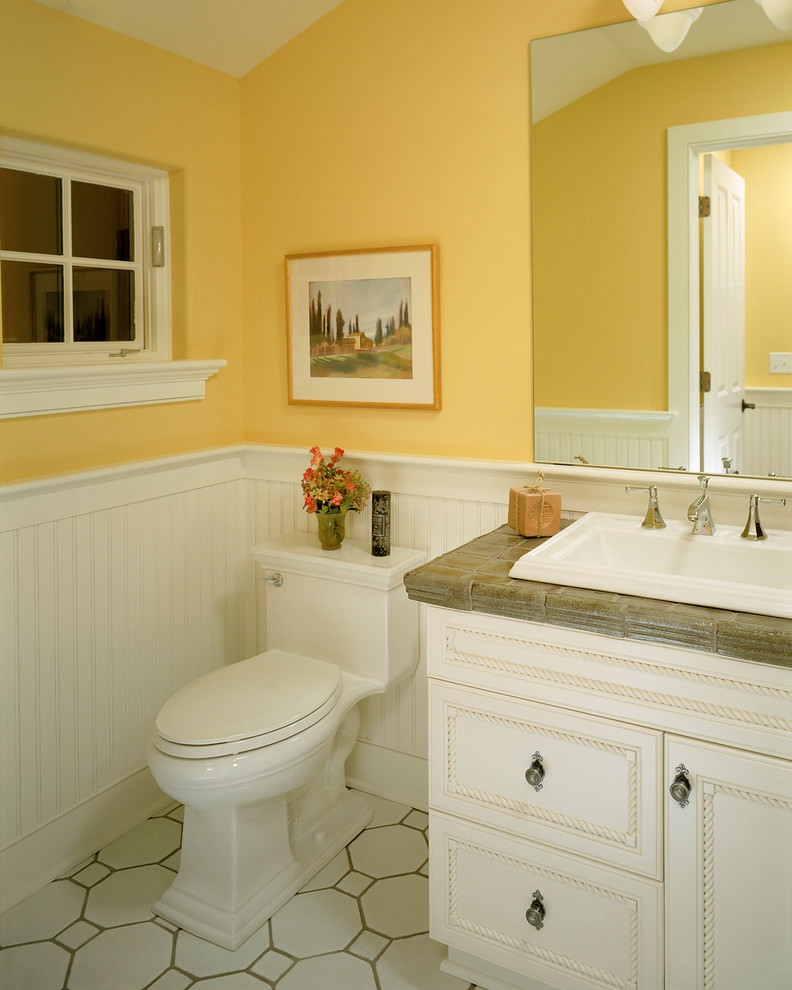20 Yellow Bathroom Designs Decorating Ideas Design Trends