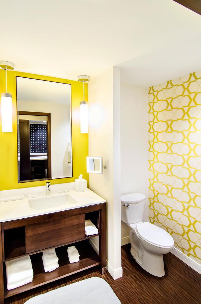 pattern yellow bathroom design