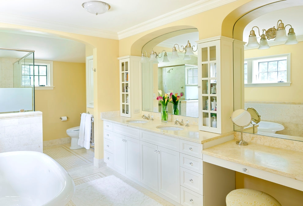 20+ Yellow Bathroom Designs, Decorating Ideas | Design ...