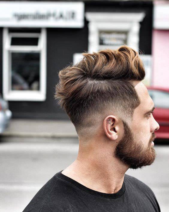 Edge Long Fade Haircut Design