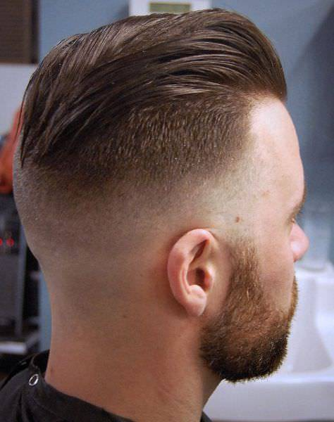 Side Long Fade Haircut Design