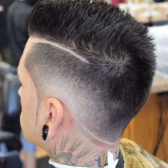 Long Shaved Fade Haircut Design