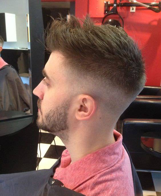 AStraight Long Fade Haircut Design
