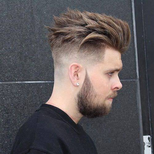 Long Wavy Fade Haircut Design
